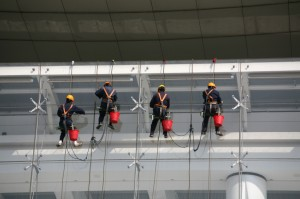 Window Cleaners Abseiling
